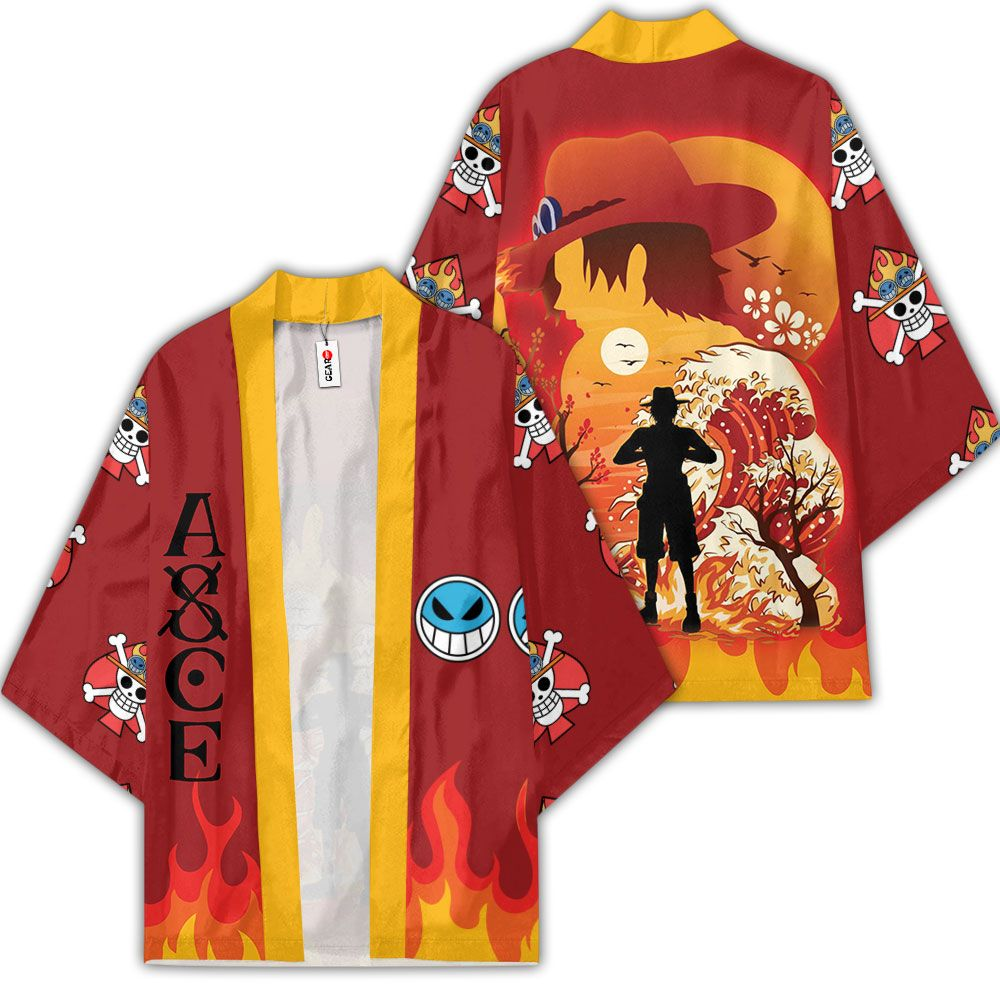 Portgas Ace Kimono Anime One Piece Otaku Merch Clothes GOT1308 Unisex / S Official One Piece Merch