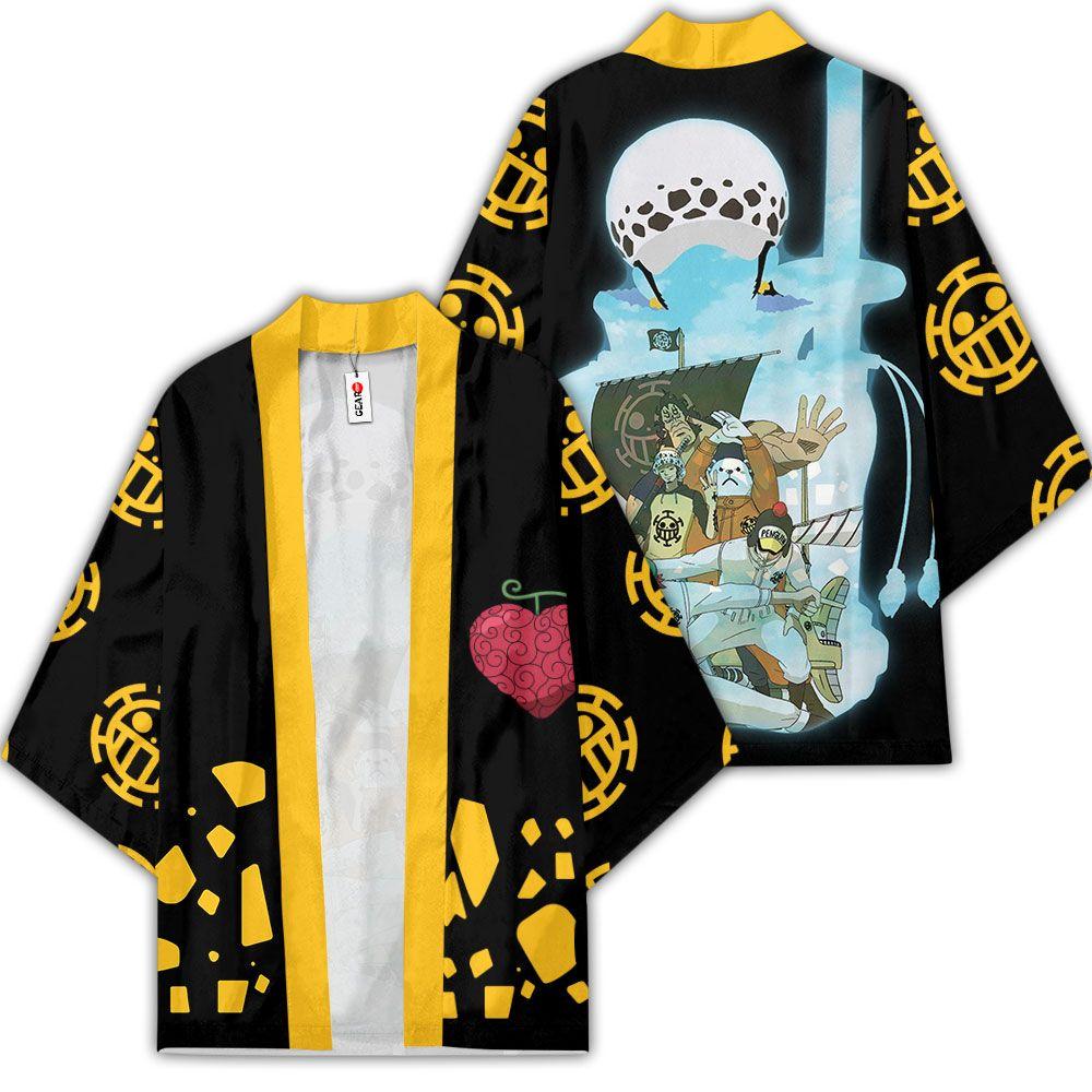 Law Heart Pirates Kimono Anime One Piece Merch Clothes GOT1308 Unisex / S Official One Piece Merch