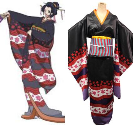 One Piece Nico Robin Kimono Cosplay Costume ANM0608 Women / XXS Official One Piece Merch