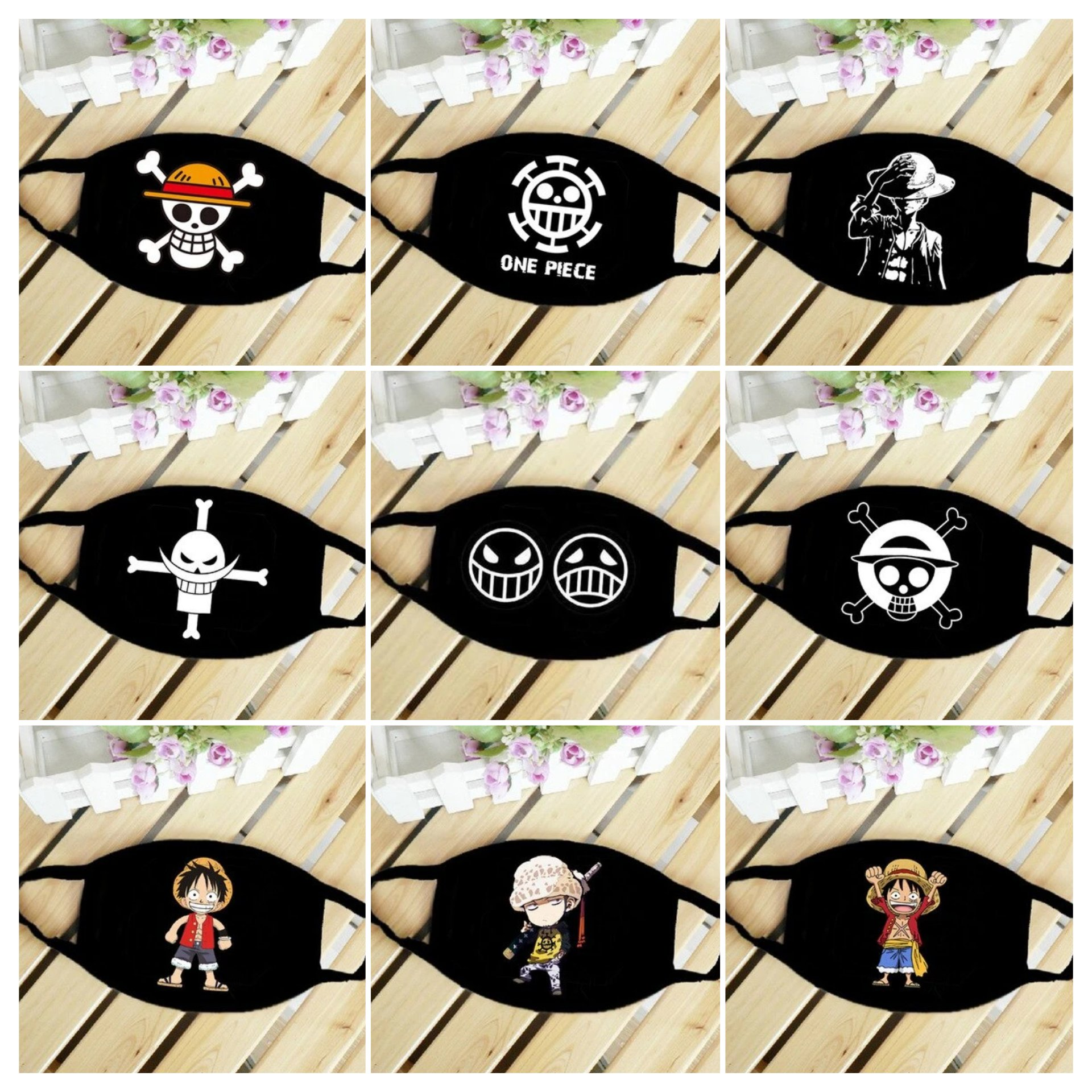 One Piece - Face Masks MNK1108 Straw Hat Official One Piece Merch