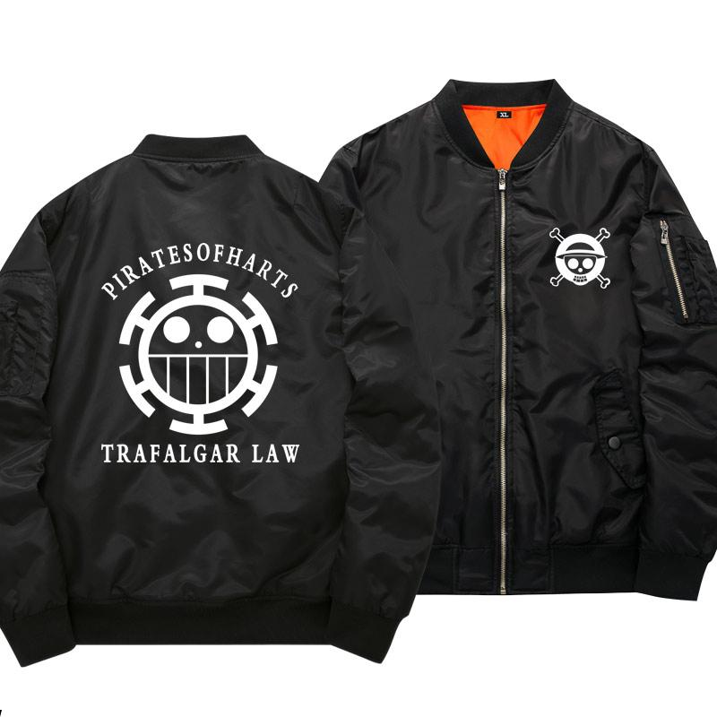 One Piece Pirates of Hearts Black Bomber Jacket ANM0608 S Official One Piece Merch