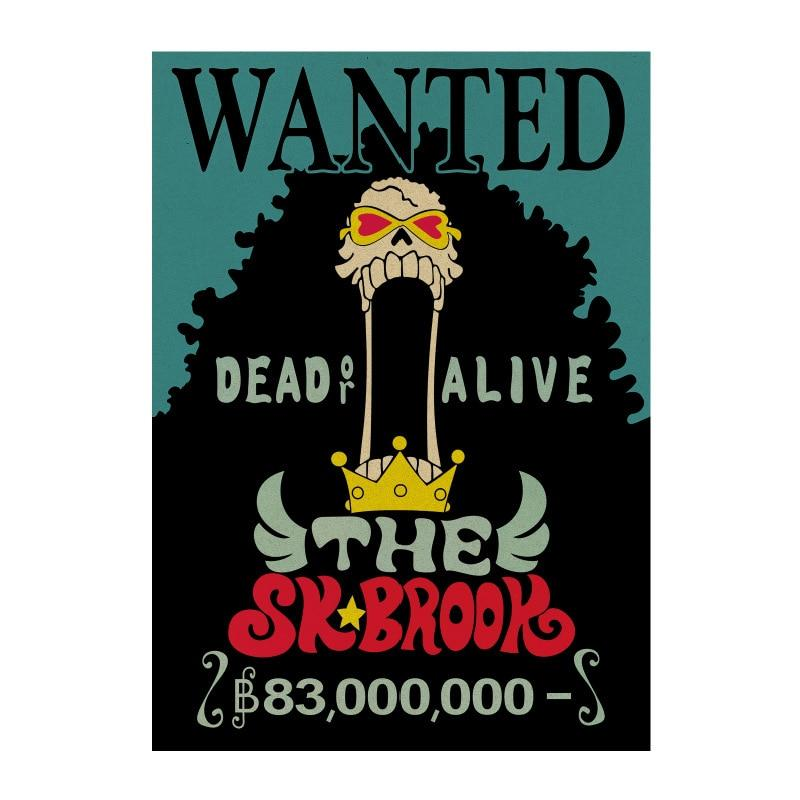 One Piece Classic Cartoon Soul King Brook Wanted Poster ANM0608 Default Title Official One Piece Merch