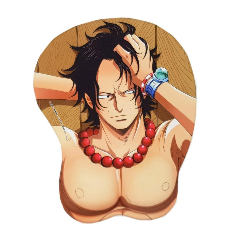 One Piece Portgas D. Ace Wrist Rest Mouse Pad ANM0608 Default Title Official One Piece Merch