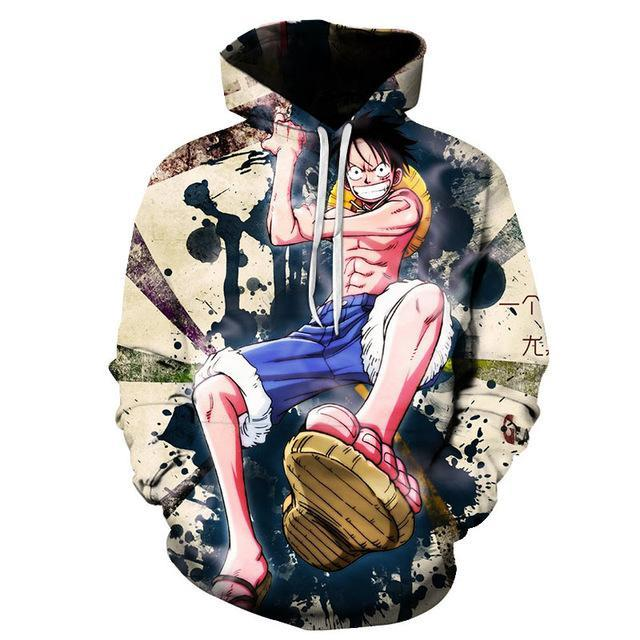 One Piece Monkey D. Luffy Surprise Hoodie ANM0608 S Official One Piece Merch