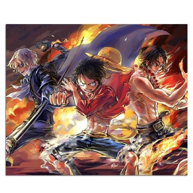 One Piece Sabo Luffy Ace Mouse Pad ANM0608 Default Title Official One Piece Merch