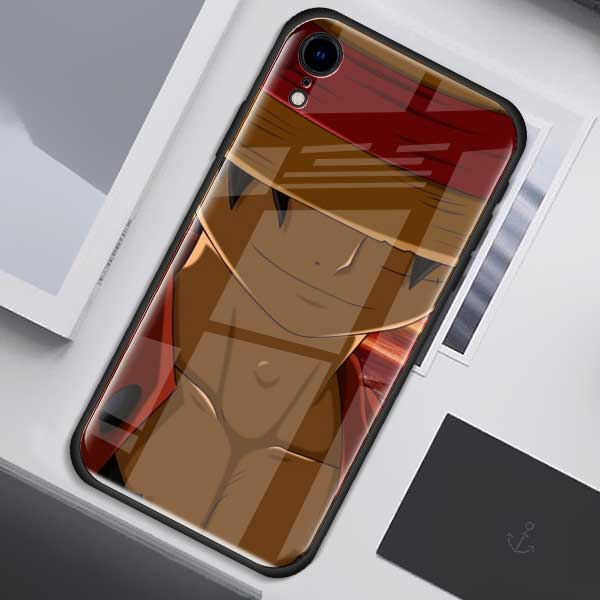 One Piece Monkey D. Luffy Tempered Glass iPhone Cover ANM0608 for iPhone 6 Official One Piece Merch