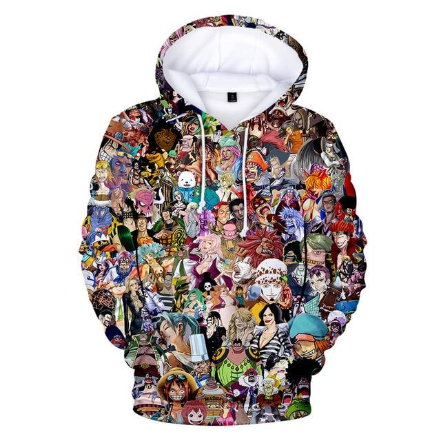 One Piece Characters Edition Hoodie ANM0608 XXS Official One Piece Merch