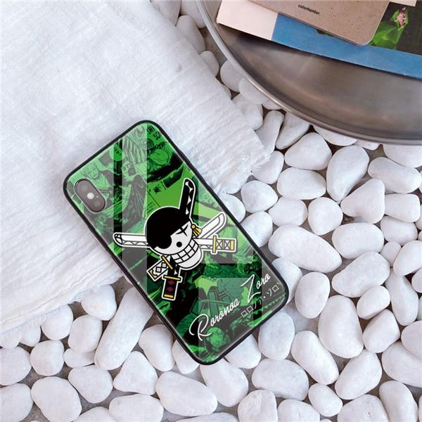 One Piece Green Roronoa Zoro Jolly Roger iPhone Case ANM0608 For iphone 5 5S SE Official One Piece Merch