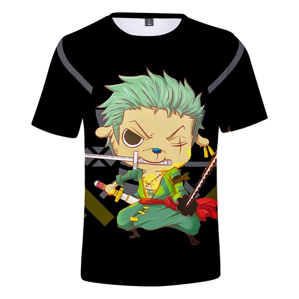 One Piece Cartoon Roronoa Zoro T-Shirt ANM0608 XXS Official One Piece Merch