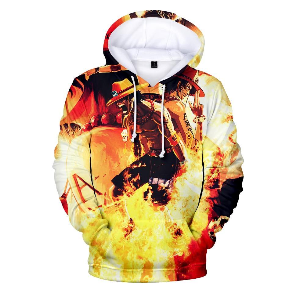 Portgas D. Ace Sound of Fire Burning Hoodie ANM0608 XXS Official One Piece Merch