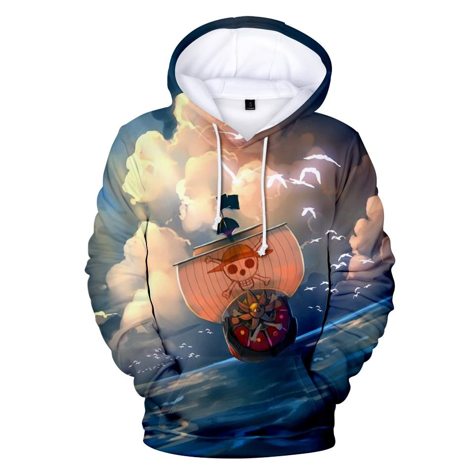 One Piece Thousand Sunny Ship Hoodie ANM0608 XXS Official One Piece Merch