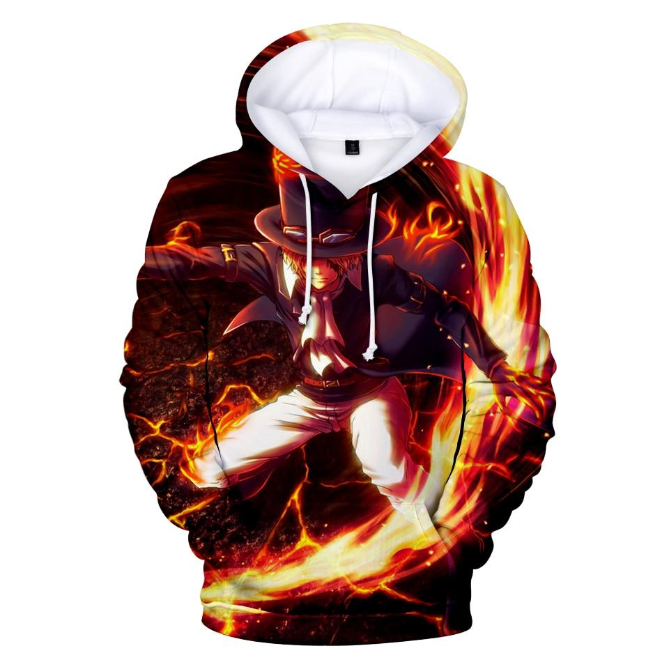 One Piece Sabo Fire Hoodie ANM0608 XS Official One Piece Merch