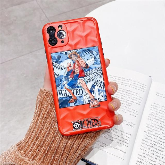 One Piece Orange Monkey D. Luffy Wanted iPhone Case ANM0608 for 7 or 8 Official One Piece Merch