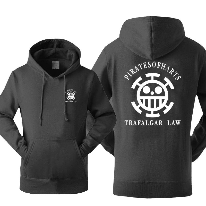 One Piece Pirates of Heart Trafalgar Law Hoodie ANM0608 Black / S Official One Piece Merch