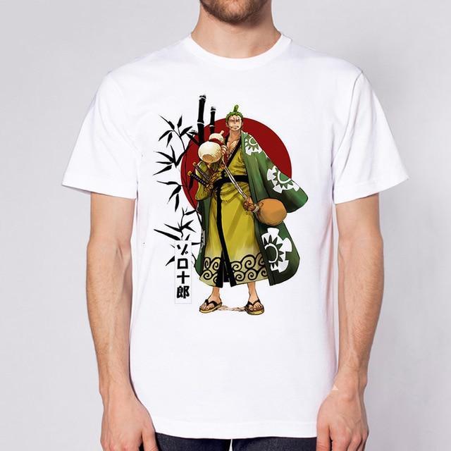 One Piece Roronoa Zoro Kimono T-Shirt ANM0608 S Official One Piece Merch