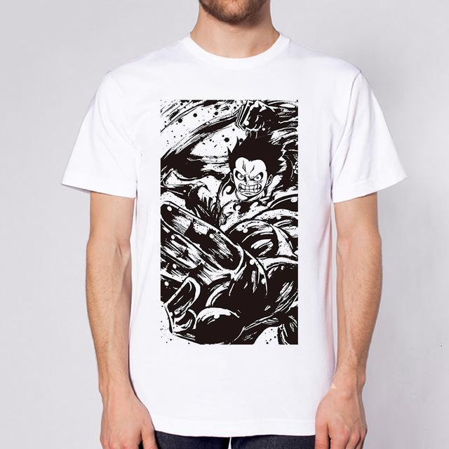 One Piece Black & White Monkey D. Luffy Gear Fourth T-Shirt ANM0608 S Official One Piece Merch