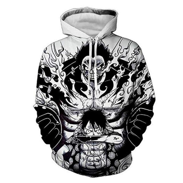 One Piece Monkey D. Luffy Gear 4 Hoodie ANM0608 M Official One Piece Merch