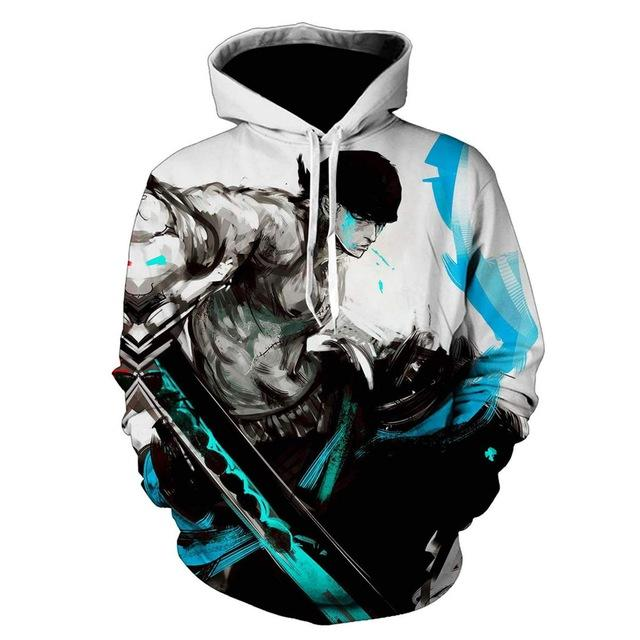 One Piece Roronoa Zoro Pirate Hoodie ANM0608 M Official One Piece Merch