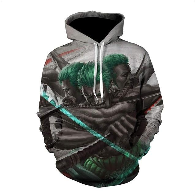One Piece Roronoa Zoro 3D Hoodie ANM0608 M Official One Piece Merch