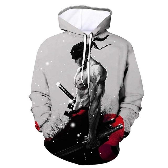 One Piece Roronoa Zoro Japan Hoodie ANM0608 M Official One Piece Merch
