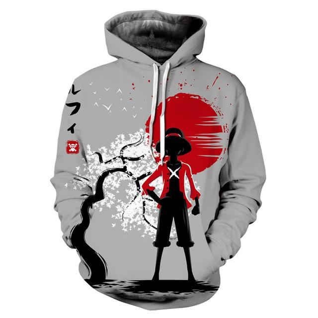 One Piece Monkey D. Luffy Japan Hoodie ANM0608 M Official One Piece Merch