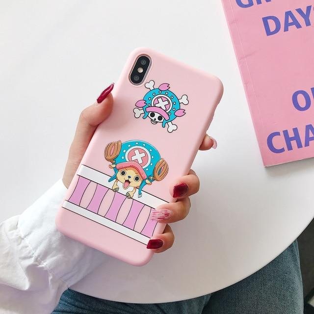 One Piece Pink Tony Tony Chopper iPhone Case ANM0608 For iphone 6 6s Official One Piece Merch