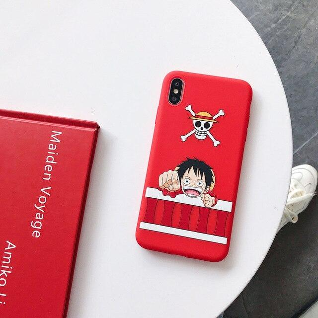 One Piece Red Monkey D. Luffy iPhone Case ANM0608 For iphone 6 6s Official One Piece Merch