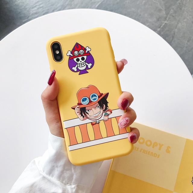 One Piece Yellow Portgas D. Ace iPhone Case ANM0608 For iphone 6Plus Official One Piece Merch