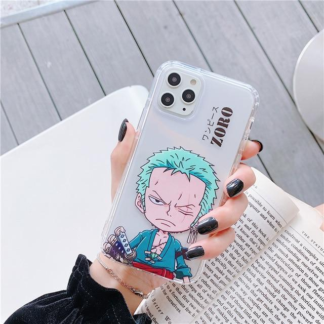 One Piece Young Roronoa Zoro Transparent iPhone Case ANM0608 For 6Plus  6sPlus Official One Piece Merch