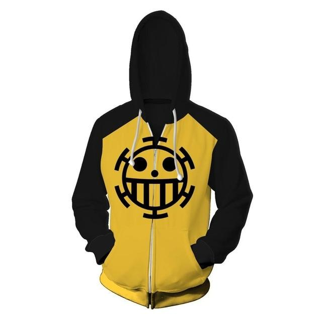 One Piece Trafalgar D. Water Law Jolly Roger Zip Hoodie ANM0608 S Official One Piece Merch