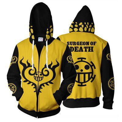 One Piece Surgeon of Death Law Zip Hoodie ANM0608 S Official One Piece Merch