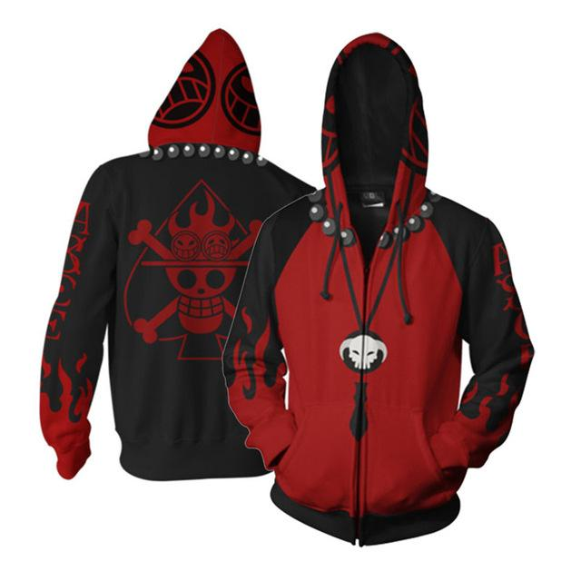 One Piece Spade Pirates Zip Hoodie ANM0608 S Official One Piece Merch