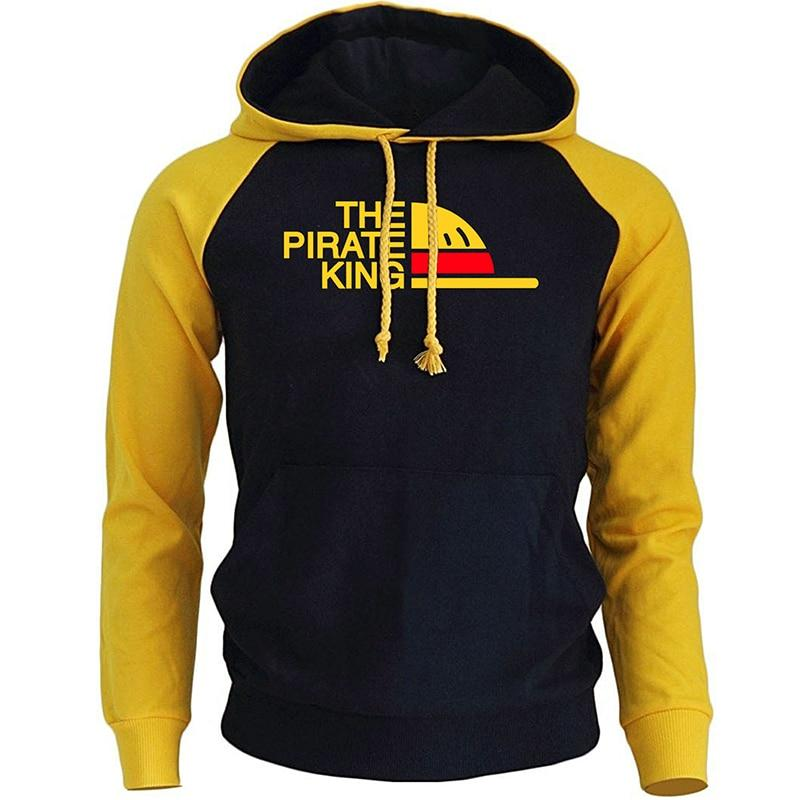One Piece The Pirate King Hoodie ANM0608 Black / S Official One Piece Merch