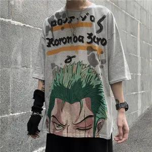 One Piece Roronoa Zoro Streetwear T-Shirt ANM0608 S Official One Piece Merch