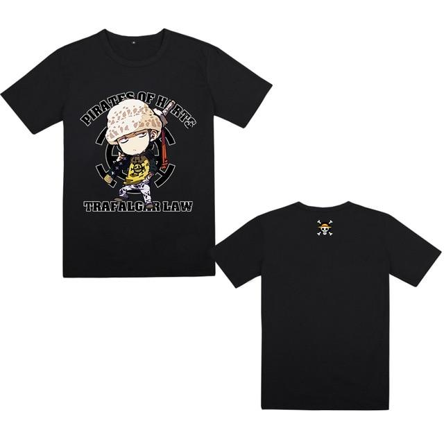 One Piece Trafalgar D. Water Law Pirates of Hearts T-Shirt ANM0608 Black / M Official One Piece Merch
