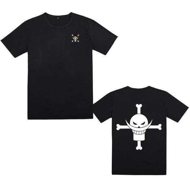 One Piece Whitebeard Jolly Roger T-Shirt ANM0608 M Official One Piece Merch