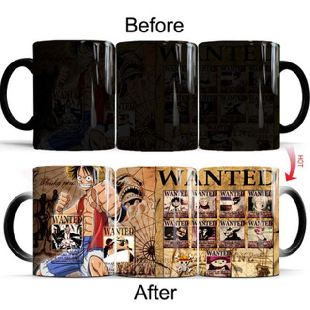 One Piece Dead or Alive Posters Straw Hat Crew Color Changing Mug Cup ANM0608 Default Title Official One Piece Merch