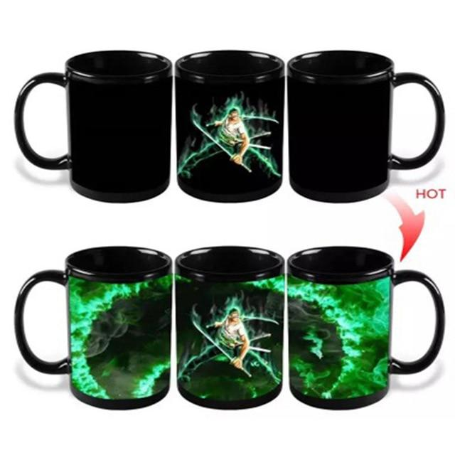 One Piece Pirate Hunter Roronoa Zoro Color Changing Mug Cup ANM0608 Default Title Official One Piece Merch