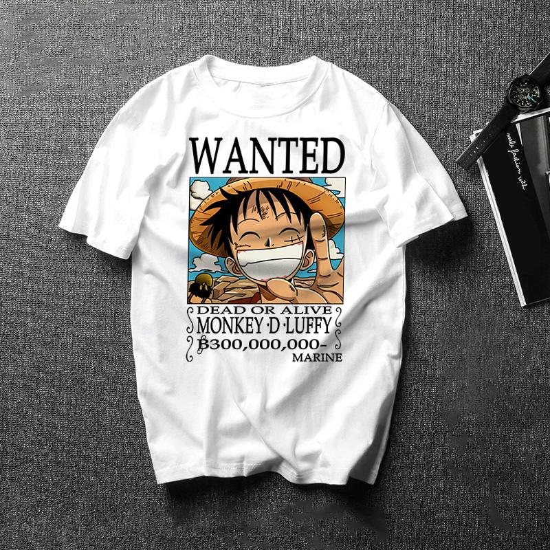 One Piece Dead or Alive Monkey D. Luffy Wanted T-Shirt ANM0608 XS Official One Piece Merch