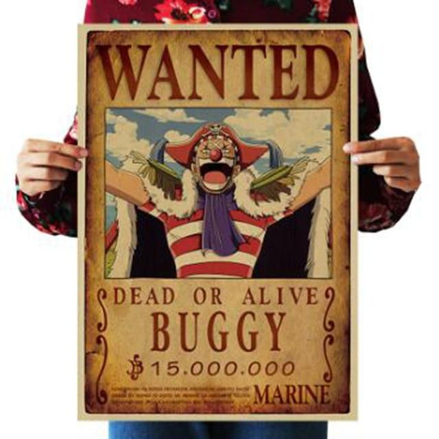 One Piece Dead or Alive Captain Buggy Wanted Bounty Poster ANM0608 Default Title Official One Piece Merch