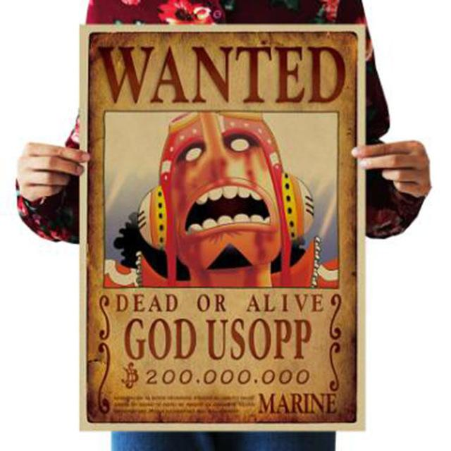 One Piece Dead or Alive Usopp Wanted Bounty Poster ANM0608 Default Title Official One Piece Merch