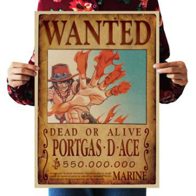 One Piece Dead or Alive Portgas D. Ace Wanted Bounty Poster ANM0608 Default Title Official One Piece Merch