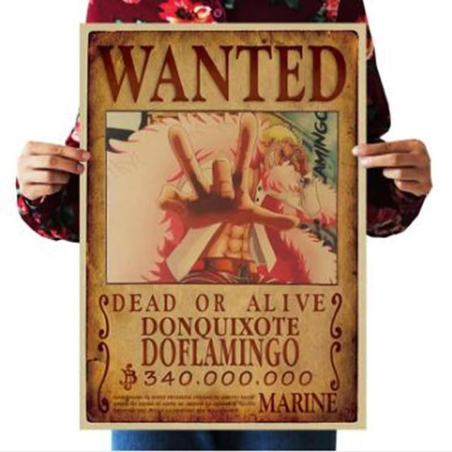 One Piece Dead or Alive Donquixote Doflamingo Wanted Bounty Poster ANM0608 Default Title Official One Piece Merch