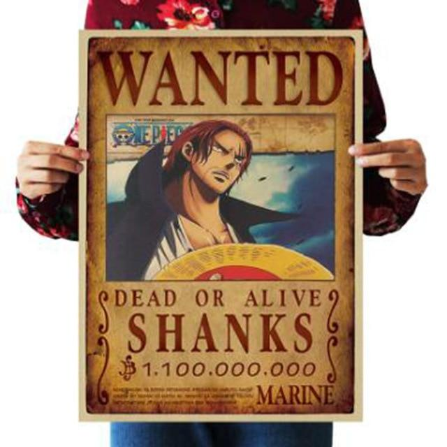 One Piece Dead or Alive Shanks Wanted Bounty Poster ANM0608 Default Title Official One Piece Merch