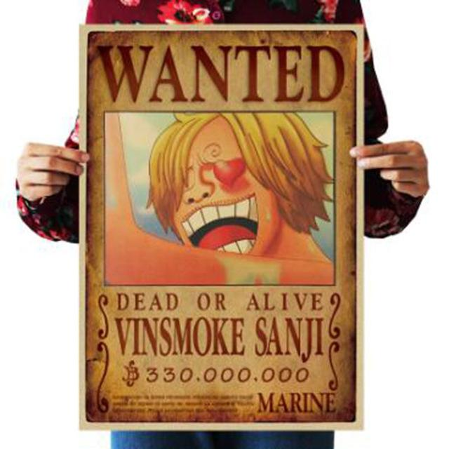 One Piece Dead or Alive Vinsmoke Sanji Wanted Bounty Poster ANM0608 Default Title Official One Piece Merch