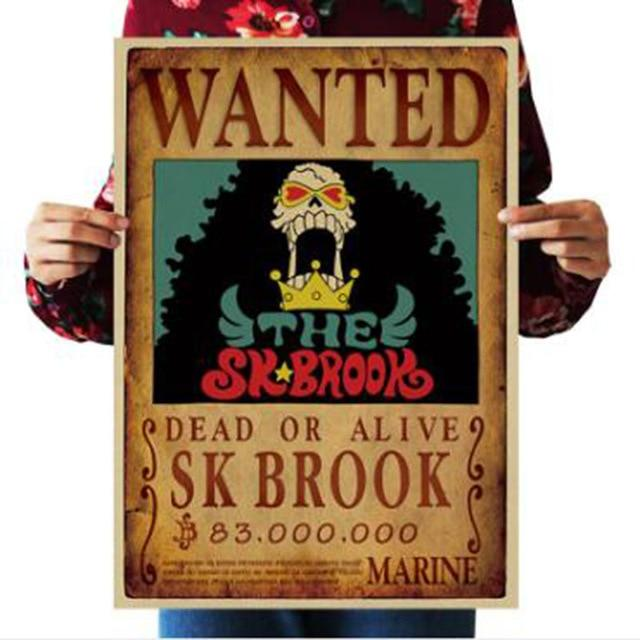 One Piece Dead or Alive Soul King Brook Wanted Bounty Poster ANM0608 Default Title Official One Piece Merch