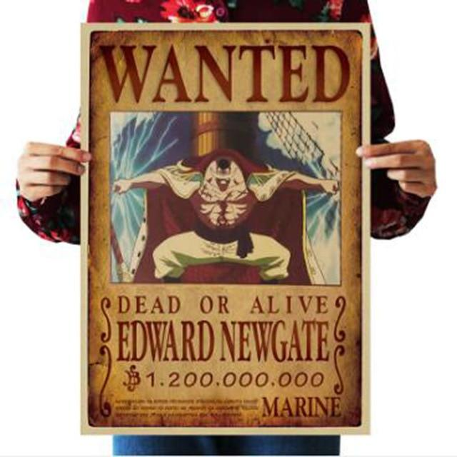 One Piece Dead or Alive Whitebeard Edward Newgate Wanted Bounty Poster ANM0608 Default Title Official One Piece Merch