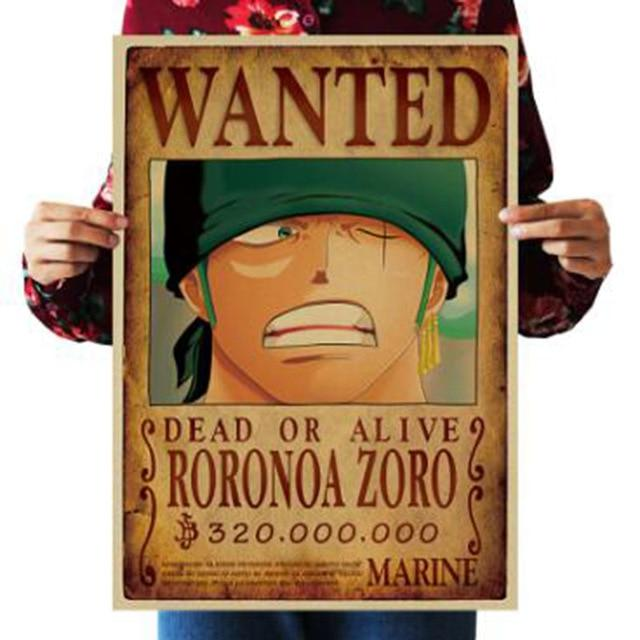 One Piece Dead or Alive Roronoa Zoro Wanted Bounty Poster ANM0608 Default Title Official One Piece Merch