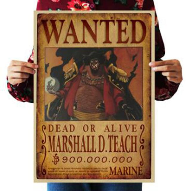 One Piece Dead or Alive Blackbeard Marshall D Teach Wanted Bounty Poster ANM0608 Default Title Official One Piece Merch