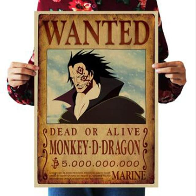 One Piece Dead or Alive Monkey D. Dragon Wanted Bounty Poster ANM0608 Default Title Official One Piece Merch
